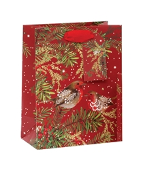 Christmas Robins Medium Bag Christmas