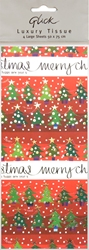 6 Packs Red Tree - Christmas Tissue Paper Christmas