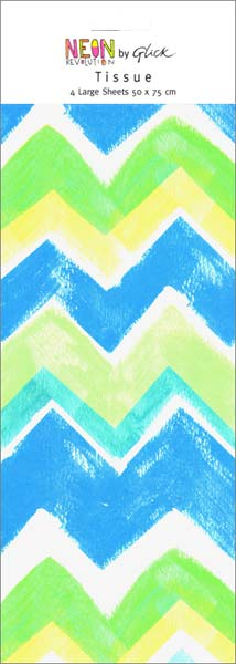 Blue Chevrons - Tissue Paper