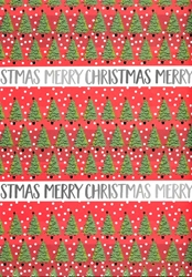 Tree Rows - Sheet Gift Wrap Christmas