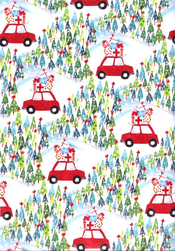 Car / Gifts - Roll Gift Wrap Christmas