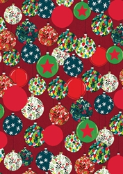 Baubles - Sheet Gift Wrap Christmas