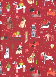 Christmas Pups Sheet Gift Wrap Christmas