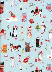 Christmas Kittens Sheet Gift Wrap Christmas