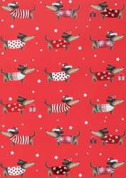 Dachshund - Sheet Gift Wrap Christmas