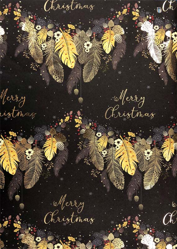 Leaves - Roll Gift Wrap Christmas