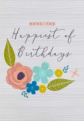 Happiest Flowers - Birthday Card