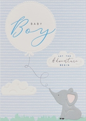 Blue Elephant - Baby Card