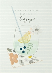 Drink Enjoy - Birthday Card