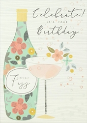 Champagne - Birthday Card