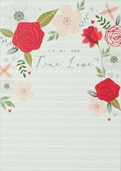 Roses True - Love Card