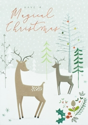 Deer in Forest - Christmas Card