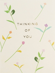 Flowers Thinking of You - Friendship Card