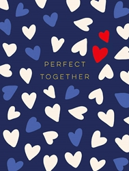 Red White Blue Hearts Perfect - Love Card