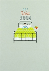 Bed - Get Well Card Get Well