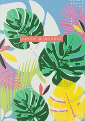 Palm Leaves - Birthday Card