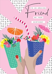 Drink Friend - Birthday Card Birthday