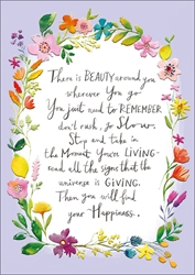 Beauty / Happiness - Friendship Card
