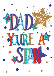 Dad Star - Fathers Day Card