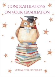 Owl / Books - Graduation Card