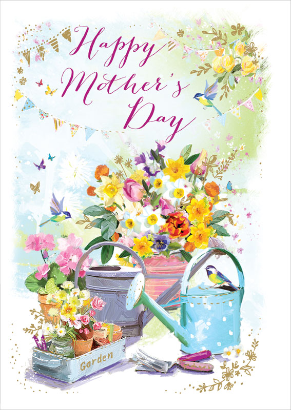 ling design ltd  watering can  mother's day card lnq0135