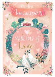Lots Love - Anniversary Card