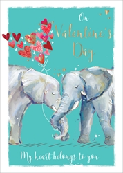 Elephants - Valentines Day Card