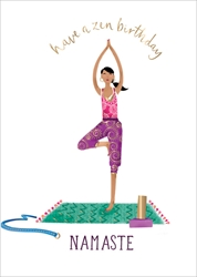 Yoga Zen - Birthday Card