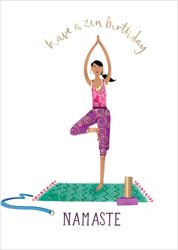 Ling Design, Ltd. - Yoga Zen - Birthday Card #LNQ0160