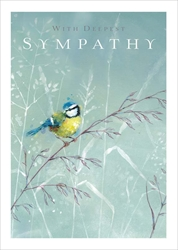Blue Bird - Sympathy Card