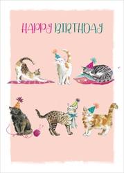 Cats - Birthday Card Birthday