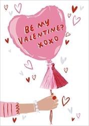 Balloon Be My - Valentines Day Card