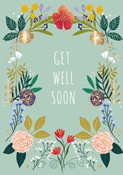 Flowers - Get Well Card
