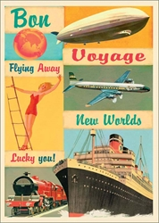 New Worlds - Bon Voyage Card