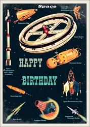 Space - Birthday Card