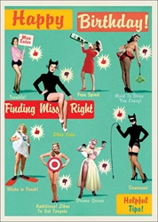 Miss Right - Birthday Card