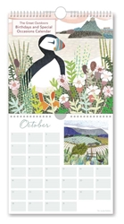 Jane Robbins The Great Outdoors  - Perpetual Birthday / Occasion Calendar