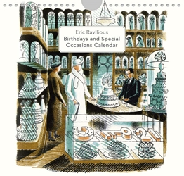 Eric Ravilious High Street  - Perpetual Birthday / Occasion Calendar