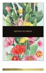 Matthew Williamson Cactus Flower - Deluxe Notebook journals and notebooks