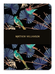 Matthew Williamson Asian Bamboo - A5 Luxury Notebook journals and notebooks