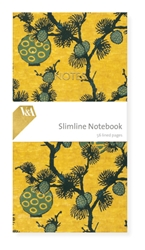 Slimline Notebook - V&A Pine Branches & Lanterns journals and notebooks