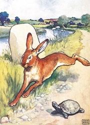 The Hare and the Tortoise - Blank Card