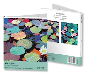 Rectangle Notecard Wallet - Allan P. Friedlander, Waterlilies notecards and stationery