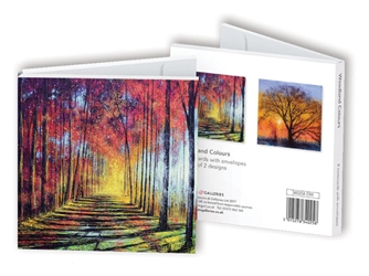 Square Notecard Wallet - Mark Todd, Woodland Colours notecards and stationery