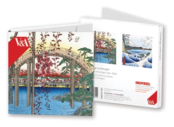 Square Notecard Wallet - V&A, Hiroshige Landscapes notecards and stationery