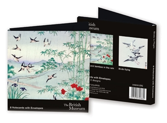 Square Notecard Wallet - British Museum, Birds in Flight notecards and stationery
