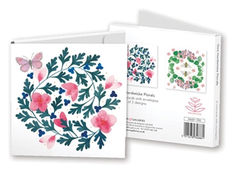 Square Notecard Wallet - Dee Hardwicke - Florals notecards and stationery