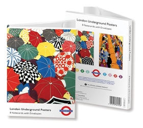 5 x 7 Notecard Wallet - London Transport Museum London Underground Posters notecards and stationery