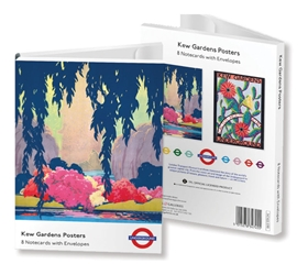 5 x 7 Notecard Wallet - London Transport Museum Kew Gardens Posters notecards and stationery