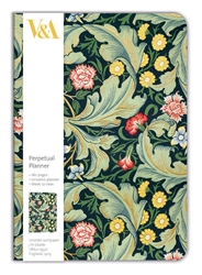 V&A Leicester Wallpaper - A5 Perpetual Planner Diary calendars and planners